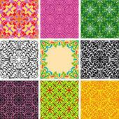 Set of arabesque seamless pattern — Stock Vector