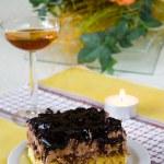 Cake and wine — Stock Photo #1704792