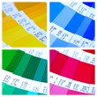 Foto Stock: Pantone color swatch collage