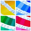 Pantone color swatch collage — Stockfoto