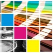 Stock Photo: Cmyka pantone collage