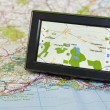 Stock Photo: GPS And Map