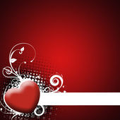 Red background with heart — 图库照片