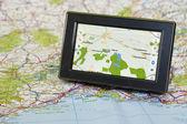 Gps i mapy — Zdjęcie stockowe