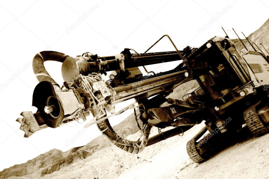 Mine drilling machine with white background  Stock Photo #1706060