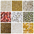 Cereal grains collage — Stockfoto