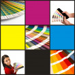 collage di pantone cmyka — Foto Stock