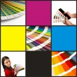 Cmyka pantone collage - Stock Photo