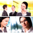 Collage business — Stock Photo