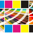 Collage color cmyk — Foto Stock
