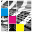Collage color cmyk — Stockfoto