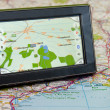 GPS And Map — Stock Photo #1725054