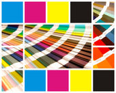 Collage farbe cmyk — Stockfoto