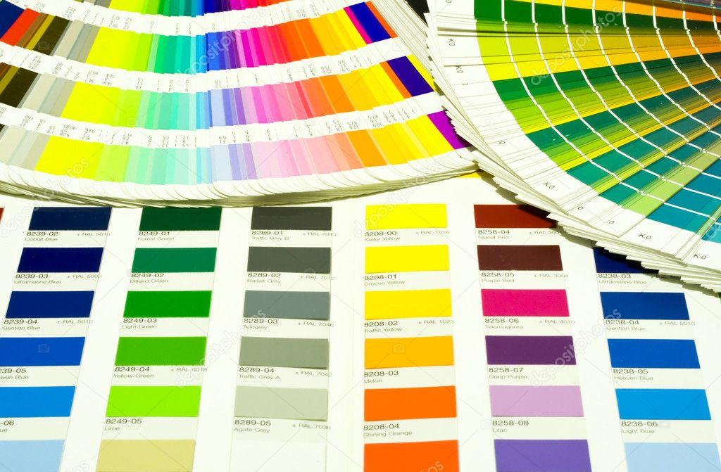 Photo of Color Swatches pantone and cmyk — Stock Photo #1723431