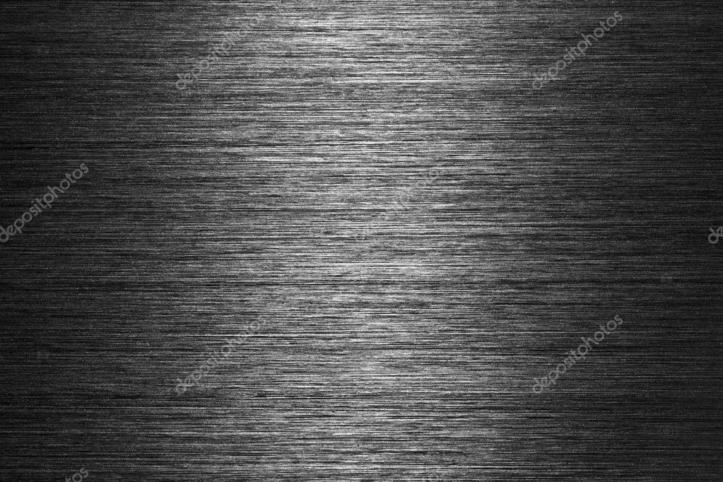 Black gray brushed metal texture in background — Foto de Stock   #1724276