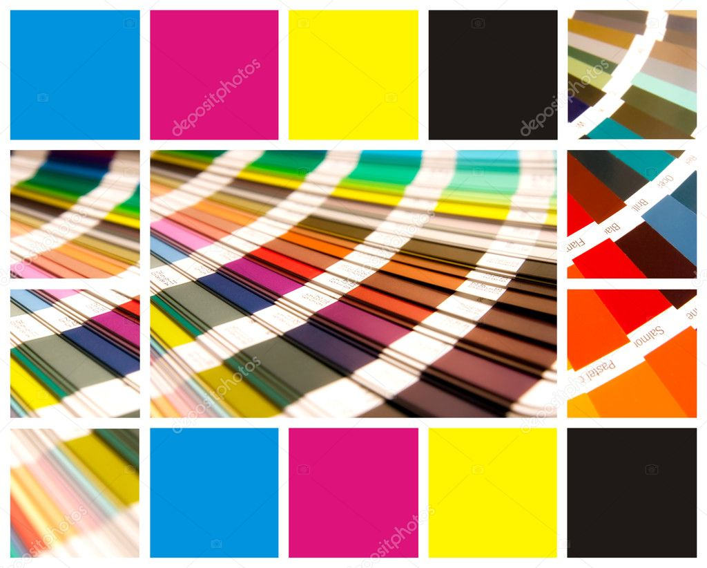Pantone and cmyk color in beautiful collage  Stock Photo #1724845