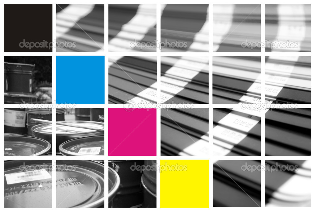 Collage color cmyk   Stock Photo #1724877