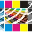 Collage color cmyk — Stock fotografie