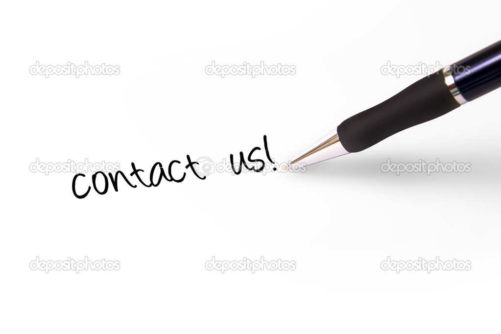 Fountain pen writing Contact Us! — Stock Photo #1793842