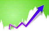 Diagramm für den unternehmenserfolg — Stockfoto