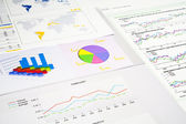 Graphs and charts — Stock Photo