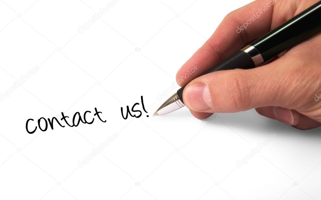 Fountain pen writing Contact Us! — Stock Photo #2074097
