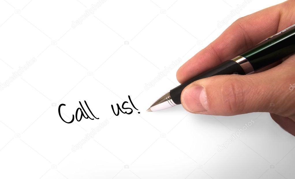 Fountain pen writing call us! — Stock Photo #2074118