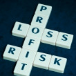 Royalty-Free Stock Photo: Profit, loss and risk crossword