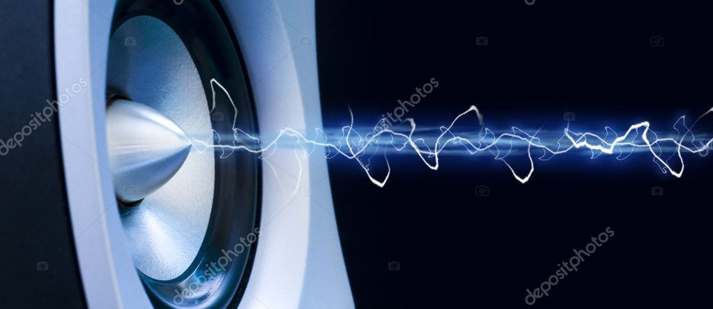 Abstract showing music from a speaker — Stock Photo #2405555