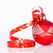 Royalty-Free Stock Photo: Red ball - Christmas decoration