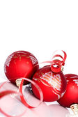 Red balls - Christmas decoration — Stock Photo
