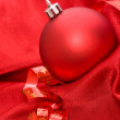 Red ball - Christmas decoration — Stock Photo #2033894