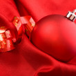 Red ball - Christmas decoration — Stock Photo