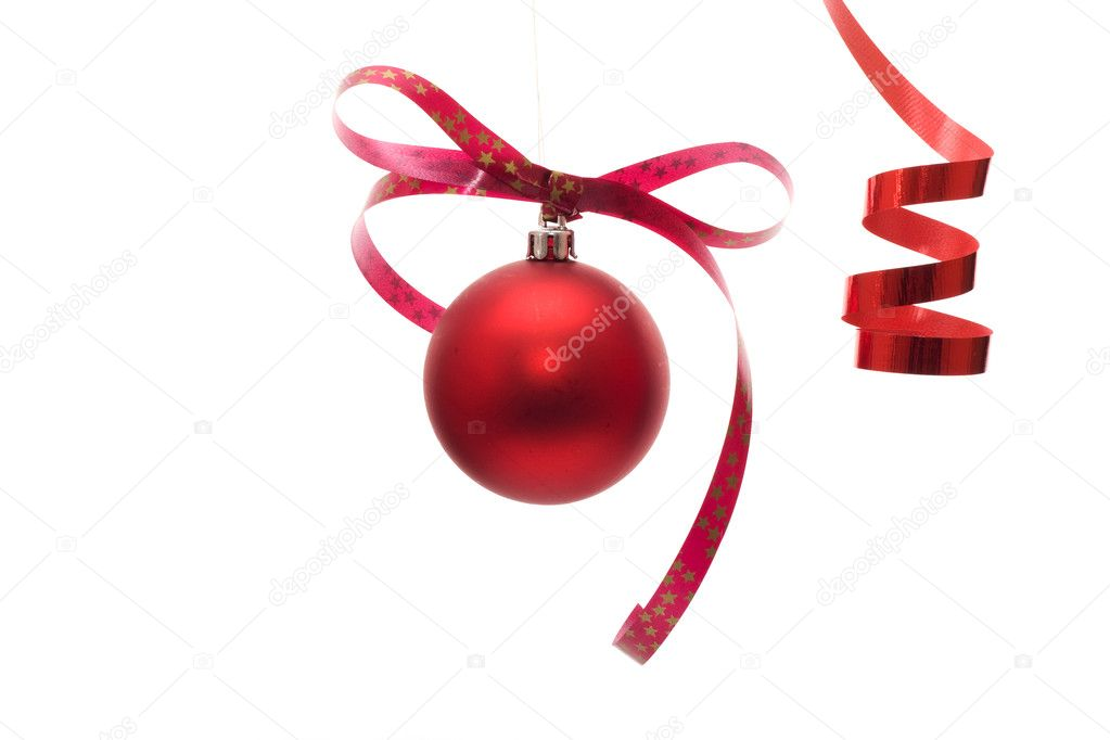 Red ball - Christmas decoration — Stock Photo #2034522