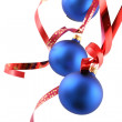 Stock Photo: Blue balls - Christmas decoration