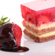 Stock Photo: Strawberry sweet dessert