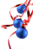 Blue balls - Christmas decoration — Stock Photo
