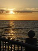 Evening quay — Stock Photo