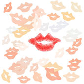 Lips print — Stock Vector