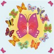 Vector background with butterflies — Stock Vector