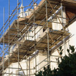 The scaffold — Stock Photo
