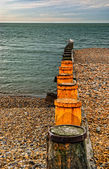 The breakwater — Stock Photo
