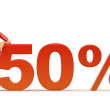50 percent - Stock fotografie