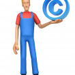 Mechanic with copyright — Stock Photo