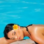 Bikini in action — Stock Photo
