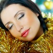 Beautiful Yellow Xmas - Stock Photo