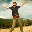 Woman and Mouintain Outdoors — Stock Photo #1931874