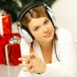 christmas gril — Stock Photo