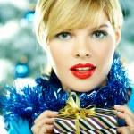Beautiful Blue Christmas — Stock Photo #1932177