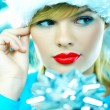 Stock Photo: Beautiful Blue Christmas